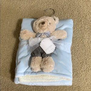 Baby Blue Bear Blankie Set